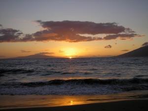 Beach at Wailea at sunset. Priceless!
