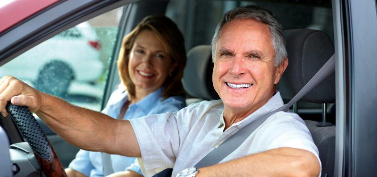 Happy older drivers