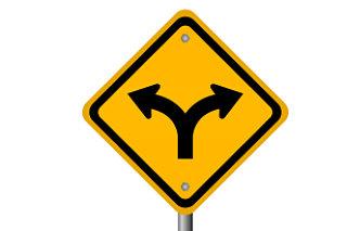 Schism road sign