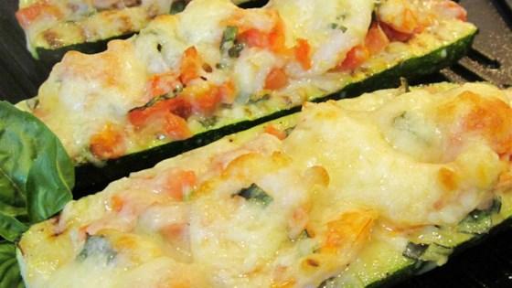Zucchini and shrimp dish