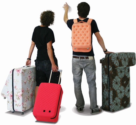 Couple with suitcases