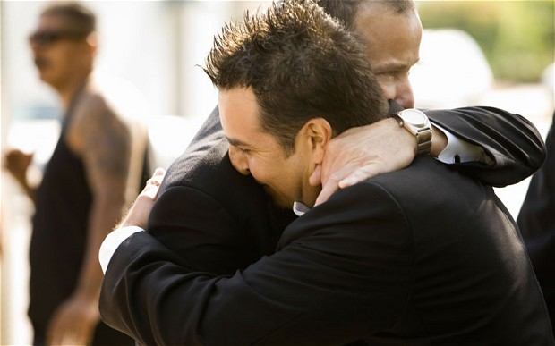Hugging men