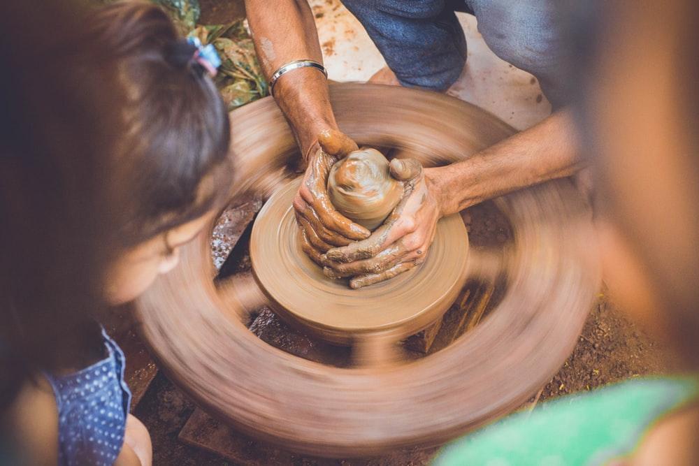 Potters wheel photo