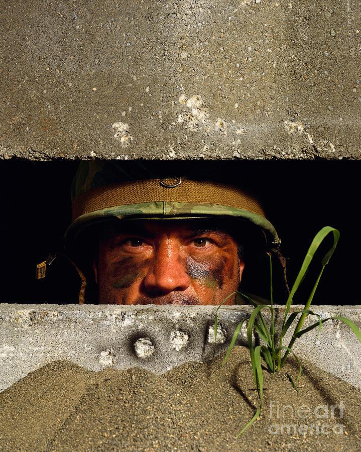 Guy in a bunker
