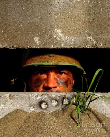 Guy in a bunker