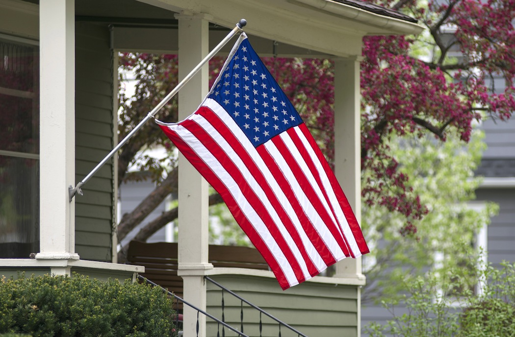 Flag on house